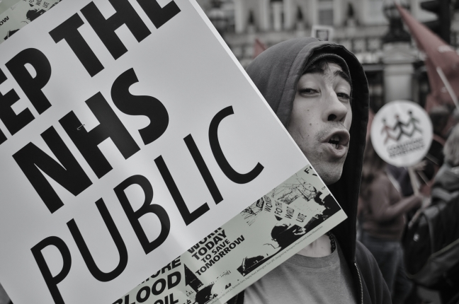 "KEEP THE NHS PUBLIC - ""the revolution is coming man!"""