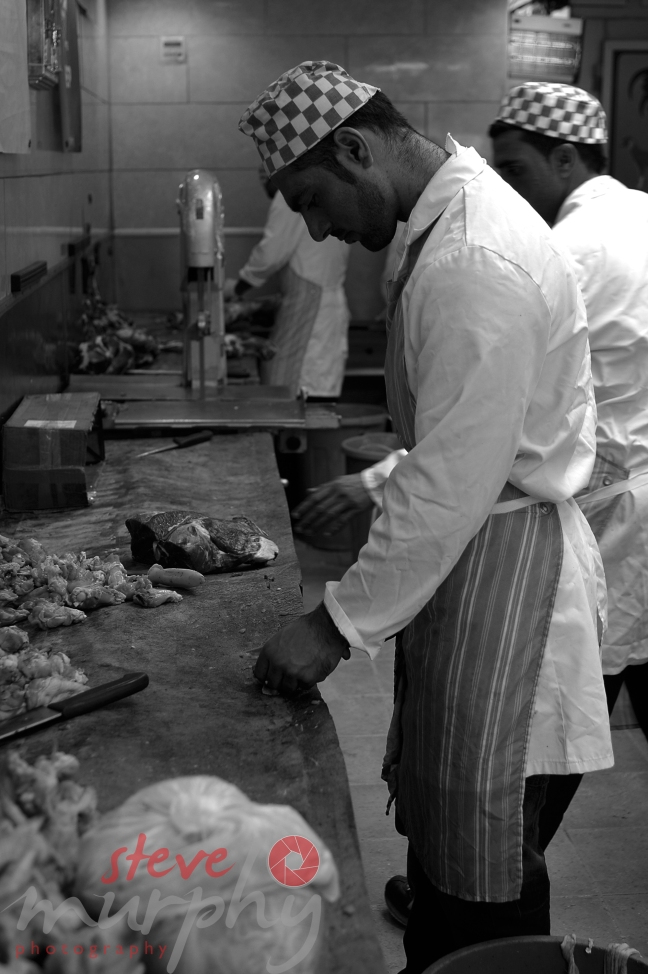 The butcher at work