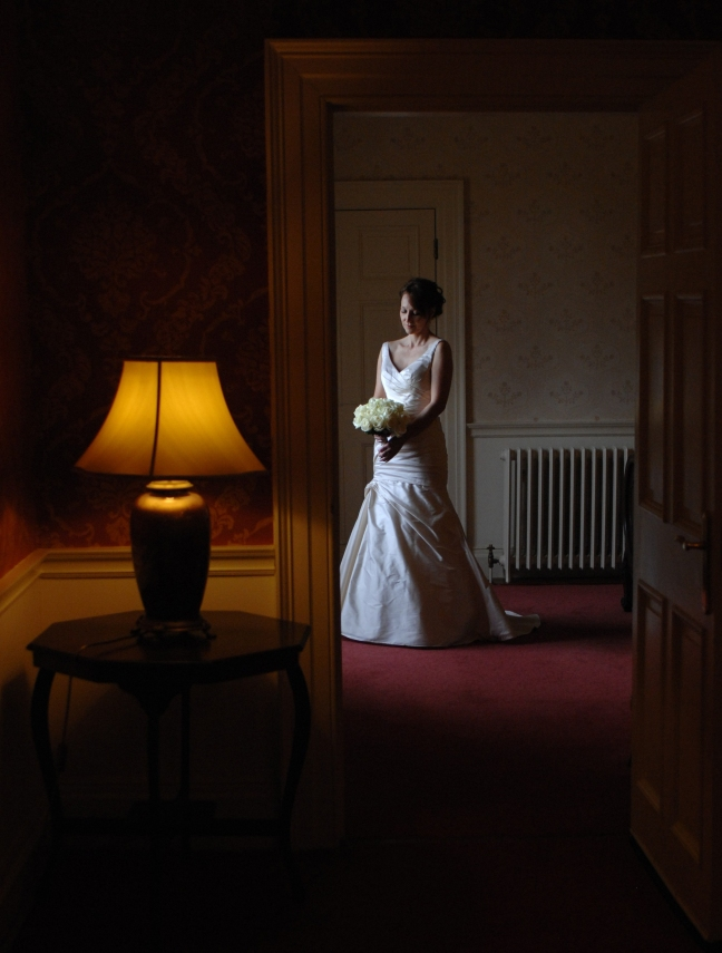 Paula preparing to leave her suite at Luton Hoo